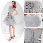 Short Chiffon Bridesmaid Wedding Party Gown Banquet Prom Evening Formal Dress 6+