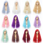 Fashion Style 65CM Long Curly Lady Girl Anime Cosplay 12 Colors Hair Wig+Wig Cap