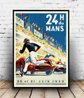 24 Du Mans : Old Motor Racing Advertising  Poster reproduction