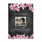 Personalised Funeral Memorial Order of Service A5 Folded Chalkboard and Flowers