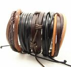 Surfer Ethnic tribal Wholesale Handmade genuine mens leather bracelet cuff
