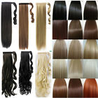 17-23'' Top wrap around ponytail pony tail hair extension real natural low price