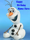 Frozen -Olaf edible icing cake topper. 5 images Select + personalise your image!