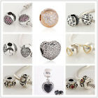 925 Sterling Silver Clip Clasp Love Hearts Series Fit European Charm Bracelets