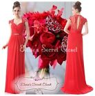 BNWT DIANA Red Lace Jewel Full Length Maxi Evening Cruise Ballgown Dress