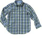 Lacoste Shirt, Green Blue White Checkered, Long Sleeve, Boy's, Size 104-158
