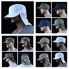 Baseball Cap Hunting Military Army Camo Camping Caps Neck Cover Hat Sun Visor