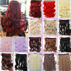 fashion ideal straight curly long half full head 5clips clip in hair extensions