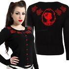 Jawbreaker Embroidered Cardigan Roses Cameo Gothic Pin Up Rockabilly Victorian