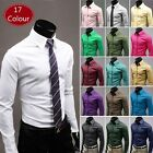 New Fashion Men's Luxury Slim Fit Long Sleeve Casual Dress Shirts 17 Colors
