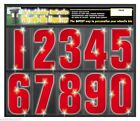 High Visability Reflective Wheelie Bin Numbers in RED