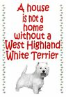 Westie - New - Flexible dog Fridge magnets - Variations
