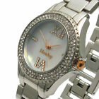 Henley Ladies Crystal Sparkling Diamante Stones Silver Bracelet Watch