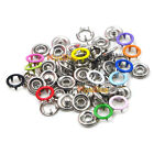9.5mm Prong Brass Open Ring Press Snaps No Sew  Fasteners Button Nickel Rivet