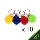 10 Pcs RFID Tags/Tag/ Keys/ Key Proximity Staff Access Login ID Keyfobs 125kHz