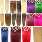 """New 7PCS 18"""" 70g 100% Genuine Human Hair Clip In/On Hair Extension 22 Colors"""
