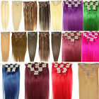 "New 7PCS 18"" 70g 100% Genuine Human Hair Clip In/On Hair Extension 22 Colors"