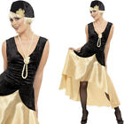 Ladies Gatsby Girl Flapper 20s Fancy Dress Costume 1920s Twenties Film Outfit