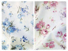 """Floral Flowers Fabric 100% Cotton Poplin Material -- 44"""" (112cm) wide"""
