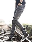 Mens Fashion Designed Stylish Casual Slim Fit Skinny Jeans Long Pants Trousers