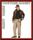 Indiana Jones Fancy Dress TV Movie Hero Famous Hollywood Costume Licensed Adult