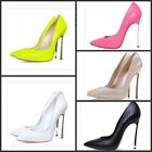 Woman's sexy patent leather Pointed head shallow mouth high-heeled shoes 5color