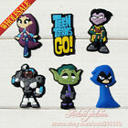 New Arrival 6-100pcs Teen Titans Go PVC Shoe Charms Shoe Accessories Kids Gifts