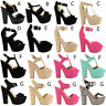 NEW LADIES WOMENS BLOCK CHUNKY HIGH HEEL PLATFORM SHOES SANDALS DEMI WEDGES SIZE
