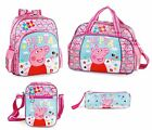 Peppa Pig Pink Large Backpack Rucksack Sports Bag Girls Hearts School Travel