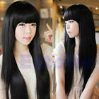 Sexy Fashion Cute Long Straight Women Girl Full Hair Wig Costume Party Cosplay