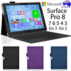 New Premium Leather Case Cover Protector For Microsoft Surface Pro 7 6 5 4 Go 2
