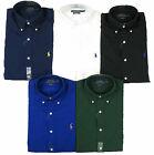 Polo Ralph Lauren Men Long Sleeve Solid Pony Custom Fit Shirt All Sizes New