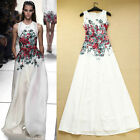 New Women Vintage RunWay Floral Printed Evening Party Maxi Long Boho Dress S M L