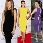 Elegant Ladies Bodycon Cocktail Tunic Sheath Wiggle Club Party Work Pencil Dress