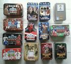 EMPTY TINS - MATCH ATTAX, DOCTOR WHO, DINOSAUR KING, WORLD CUP ETC.. PICK/CHOOSE