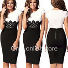 █ ██ Women's Celeb Lace Wear to Work Evening Cocktail Party Bodycon Pencil Dress