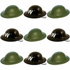 WW2 PLASTIC HELMET HATS AIR RAID WARDEN OR ARMY HAT FANCY DRESS PARTY DRESS UP