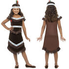 Kids Native American Girl Boy Costume Childrens Fancy Dress Outfit Smiffys