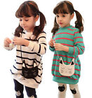 New Fashion Kids Toddler Clothes Girls Stripe Top Leggings Outfits Suit Sz2-7Y