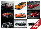 GREATEST CARS OF ALL TIMES POSTER OPTIONS A4 Photo Art Print Home Garage Decor