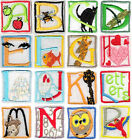 FABRIC Iron On Colourful LETTER'S Embroidered Applique Motif on felt Alphabet