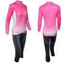Arsuxeo Women's Cycling Long Sleeves Jersey Suits Quick-drying Sunscreen H6
