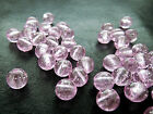 8mm 25/50/100grams TRANSLUCENT PINK ACRYLIC ROUND LOOSE BEADS AB14429