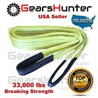 "3"" (Various Length) 2-Ply Nylon Web Sling Lift Tow Strap Heavy Duty 33000 LBS"