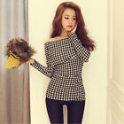 HOT Fashion  Sexy Casual Long Sleeve Off Shoulder Shirt T-shirts Tops Blouses CH