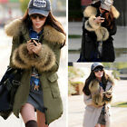 Hot Ladies Warm Winter Zip-up Parka Coat Outerwear Women Faux Fur Jacket 8101214