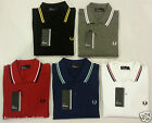 Fred Perry Mens Polo T-Shirt In Red Grey Black White Blue Size S M L XL XXL