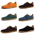Hot Sell New Men's Big Size Loafers Lace Up Casual Shoes Genuine Suede Sneakers