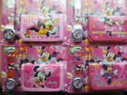 kids character watch and wallet set - super cute minnie mickey tinkel bell
