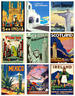 TRAVEL & RAILWAYS A4 Poster RETRO VINTAGE Old Style Home Art Print / Wall Decor